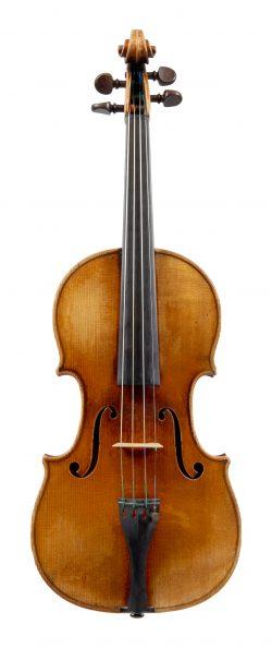 Front of a violin by Jean-Baptiste Vuillaume, Paris, 1844