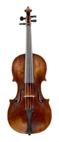 Front of a violin by Johann Georg Leeb, Pressburg, 1788