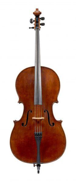 Front of a cello by Johann Martin Stoss, Vienna, circa 1815