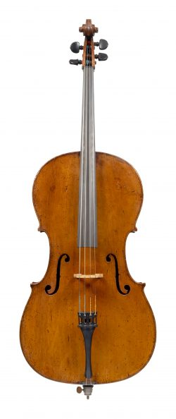 Front of a cello by Johannes Theodorus Cuypers, The Hague, 1802