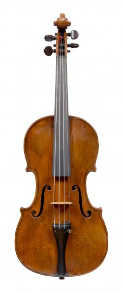 Front of a violin by Johannes Theodorus Cuypers, The Hague, circa 1780