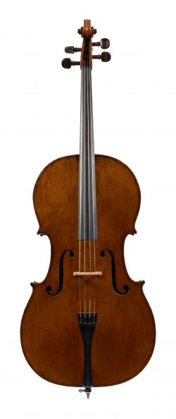 Front of a cello by John Betts, London, circa 1800
