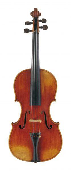Front of a violin by John Lott, c1860