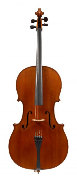 Front of a cello by joseph Anthony Chanot, London, 1902