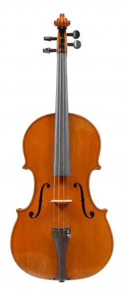 Front of a viola by Joseph Curtin, Ann Arbor, 1982