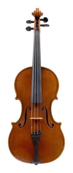 Front of a violin by Karel Vávra, Prague, c1825