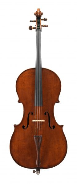 front of a cello by Leandro Bisiach, Milan, 1900