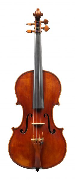 front of a violin by Leandro Bisiach, Milan, c1920