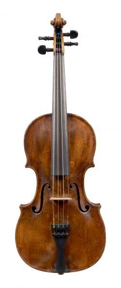 Front of a violin by Leopold Widhalm, Nuremburg, 1776