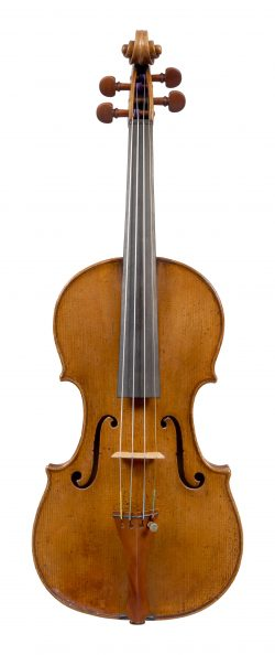 Front of a violin by Lorenzo and Tomasso Carcassi, Florence, 1781