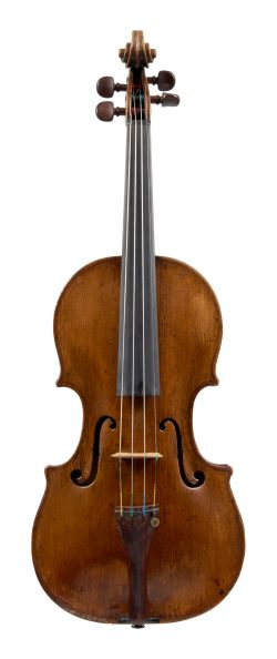 Front of a violin by Lorenzo & Tomaso Carcassi, Florence, circa 1770