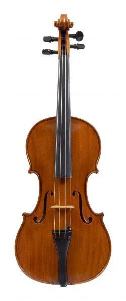 Front of a violin by Lorenzo Bellafontana, Genoa, 1948