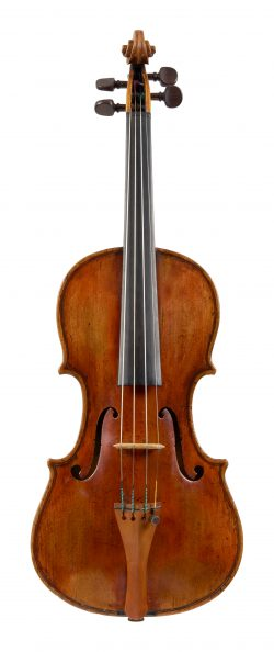 Front of a violin by Lorenzo Storioni, Cremona, 1775