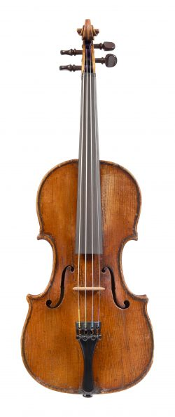 Front of a child's violin by Lorenzo Storioni, circa 1775