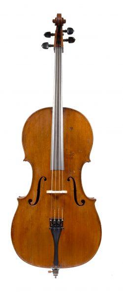 Front of a cello by Louis Guersan, Paris, 1760