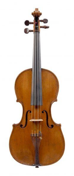 Front of a violin by Louis Guersan, Paris, 1761