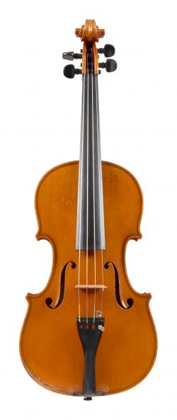 Front of a violin by Luigi Azzola, Turin, 1948