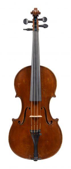 Front of a violin by Marco Dobretsovich, Cairo, 1923