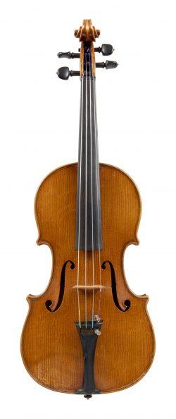 Front of a violin by Marino & Mario Capicchioni, Rimini, 1976
