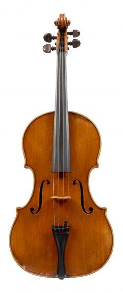 Front of a viola by Marino Capicchioni, Rimini, 1950
