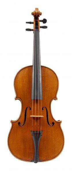 Front of a violin by Marino Capicchioni, Rimini, 1961