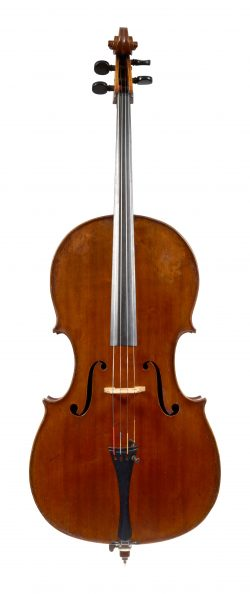 Front of a cello by Martin Stoss, 1837