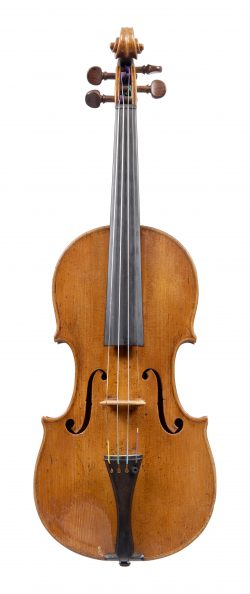 Front of a violin by Matthew Hardie, Edinburgh, c1800