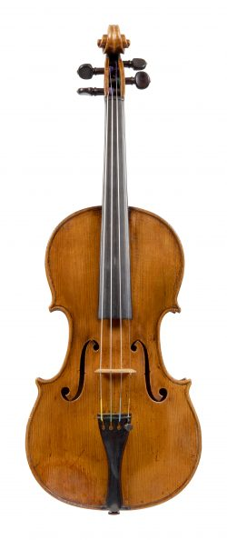 Front of a violin by Matthew Hardie, Edinburgh, 1928