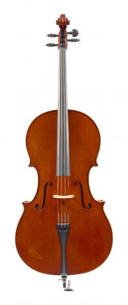 Front of a cello by Maurizio Tadioli, Cremona, 1990