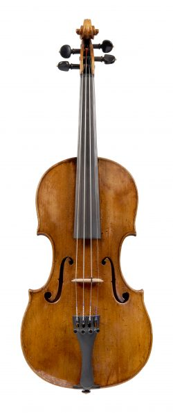 Front of a violin by Michael Kloz, Mittenwald, c1775