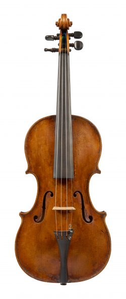 Front of a violin by Michele Platner, Rome, 1744