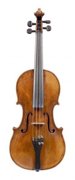 Front of a violin by Nicola Marchioni, Bologna, 1730