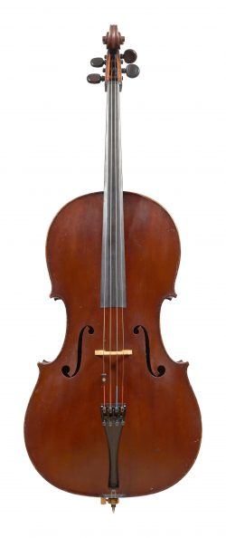Front of a cello by Nicolas-François Vuillaume, Brussels, 1835