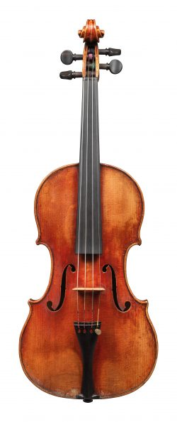Front of a violin by Nicolas Lupot, Paris, 1810