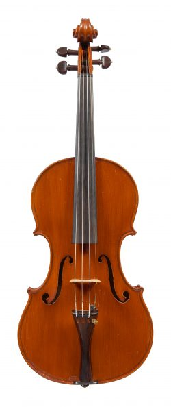 Front of a violin by Oreste Candi, Genoa, 1928