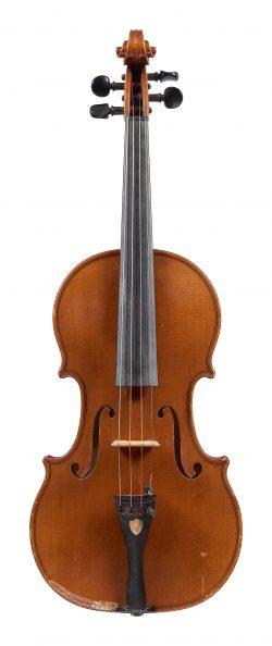 Front of a violin by Otokar F Spidlen, Prague, 1937
