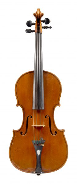 Front of a violin by Paolo Leonori, Rome, 1932