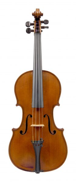 Front of a violin by Paul Bailly, Paris, 1887