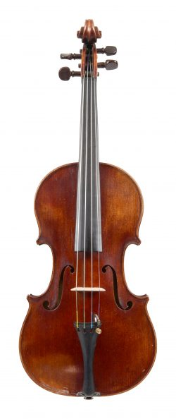 Front of a violin by Paul Bailly, Paris, 1902