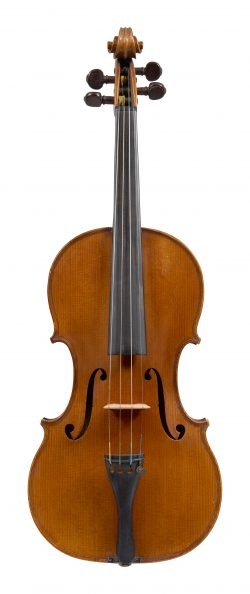 Front of a violin by Paul Bailly, Paris, circa 1885