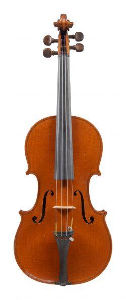 Front of a violin by Paul Blanchard, Lyon, 1888