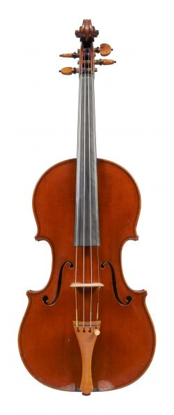 Front of a violin by Pierre Joseph Hel, Lille, 1901