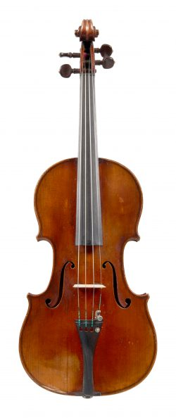 Front of a violin by Pierre Joseph Hel, Lille, 1893