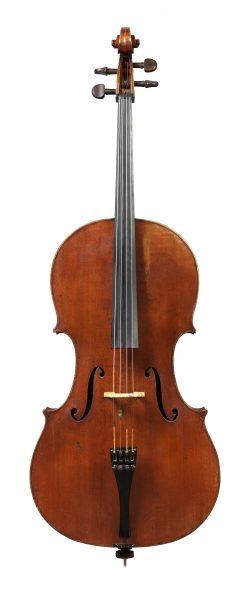 Front of a cello by Pierre Silvestre, Paris, 1850-
