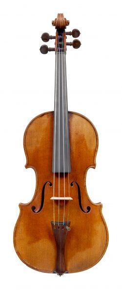 Front of a violin by Pierre Silvestre, Paris, 1846