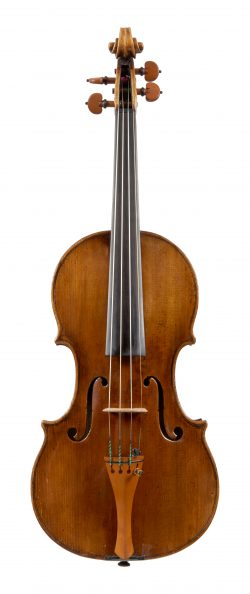 Front of a violin by Pietro Antonio dalla Costa, Treviso, 1733