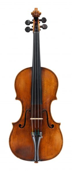 Front of a violin by Pietro Guarneri of Venice, 1754