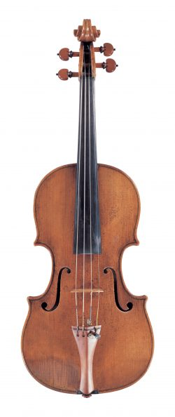 Front of a violin by Pietro Guarneri of Venice, c1750