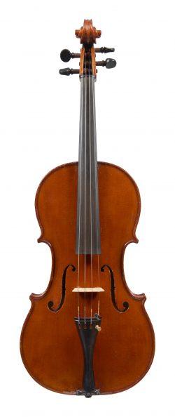 Front of a viola by Riccardo Antoniazzi, Milan, 1909