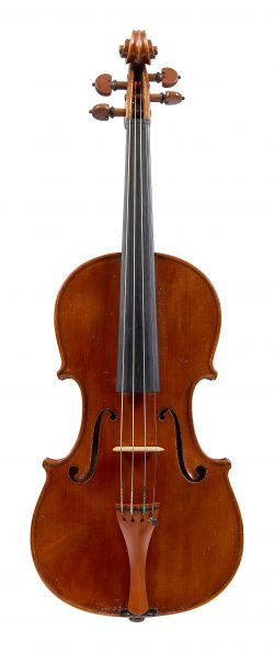 front of a violin by Riccardo Genovese, Lecco, c1930